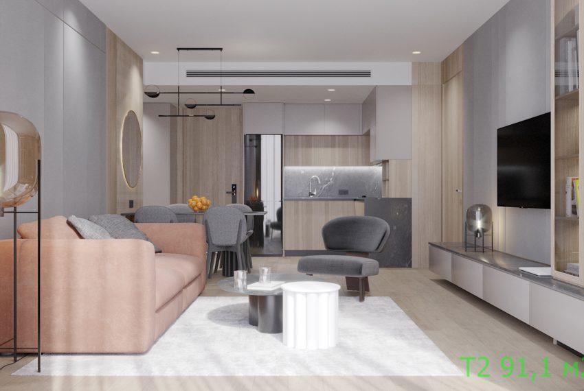 1. 2 Bedroom 90.10 m2
